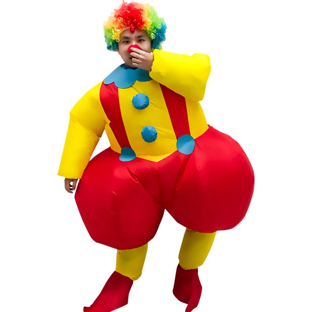 Nuovo design Gonfiabile a piedi costume cosplay clown pagliaccio gonfiabile di sumo wrestling suits costume cosplay per adulti