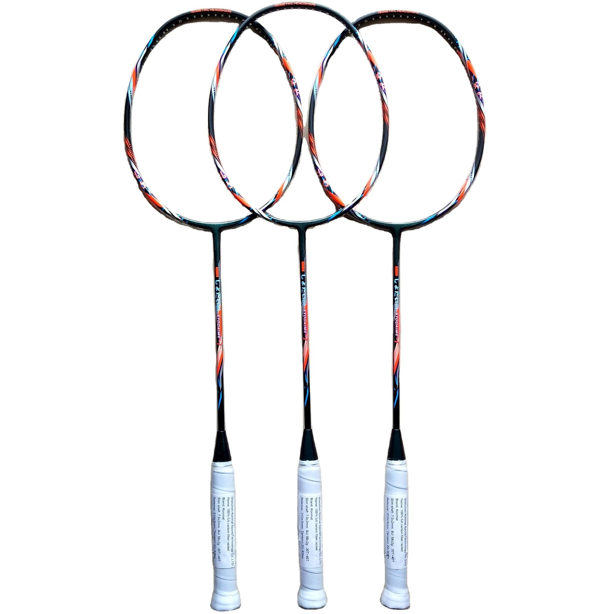 9U 58G 30LBS Japan Graphite Fiber Badminton <span class=keywords><strong>Racket</strong></span> Badminton Rackets Van Fabriek