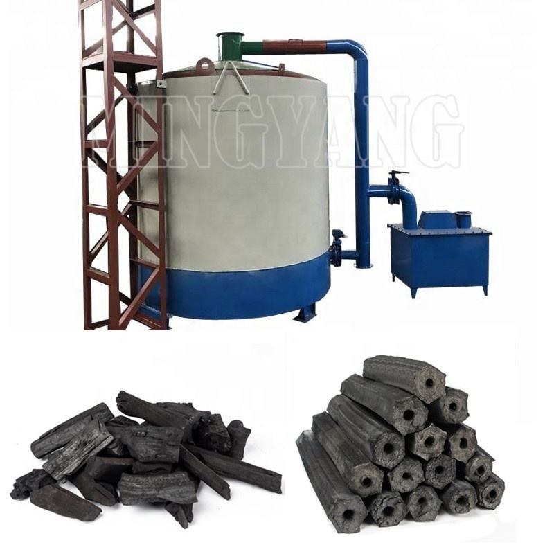 Solid Fuels Charcoal Carboniser Machine 1-8 ton/day, Factory Sale carbonization furnace