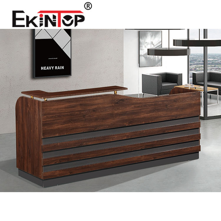 Luxury design wholesale front modern used wood office furniture counter reception desk
