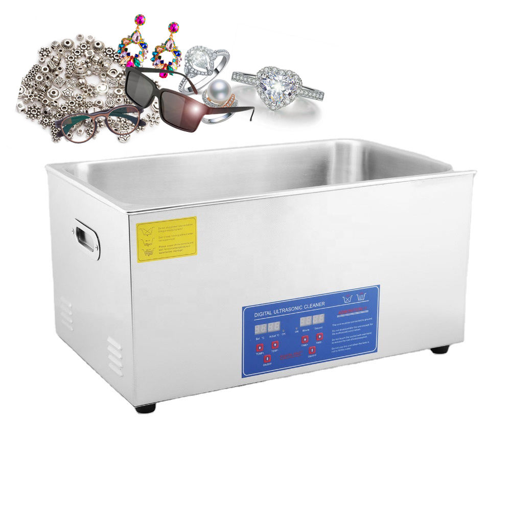 30L Ultrasonic Cleaner 100A Ultra Sonic Bath Cleaning Tank Timer Heater Machine