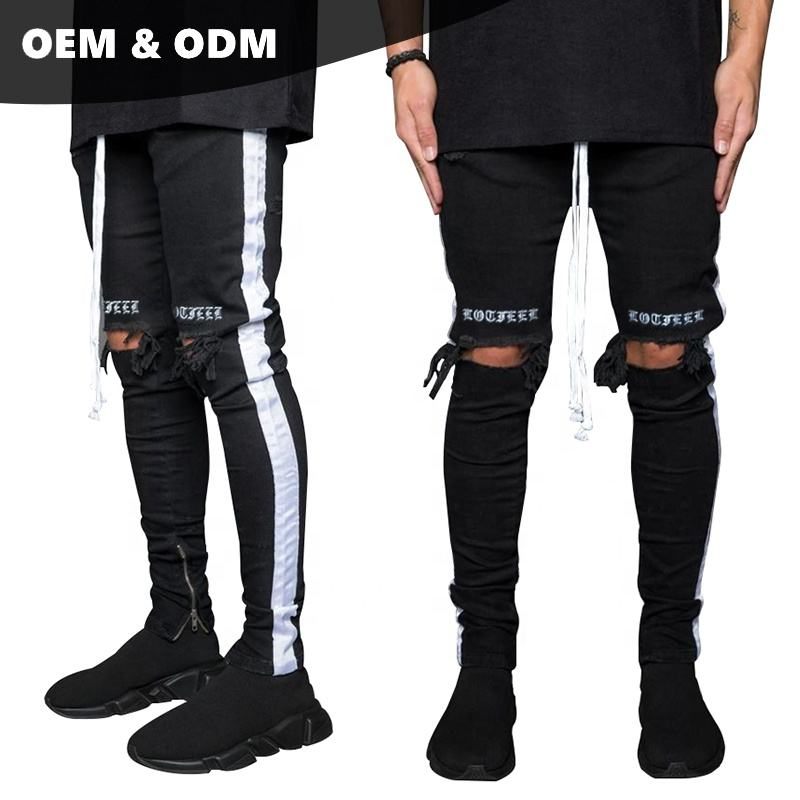 OEM washed american brand ripped jeans pent style