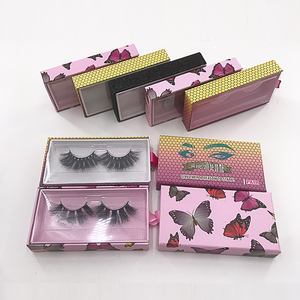 Logo eyelash packaging box 3d mink lashes bulk lashes cruelty free