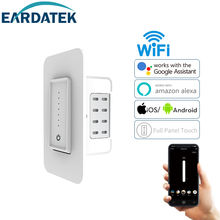 US standard ETL certified smart home system remote digital timer push button on off power wall smart wifi switch