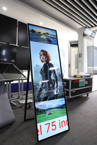 poster indoor ad sign retail floor stand digital signage kiosk lcd player portable monitor non touch with keyboard