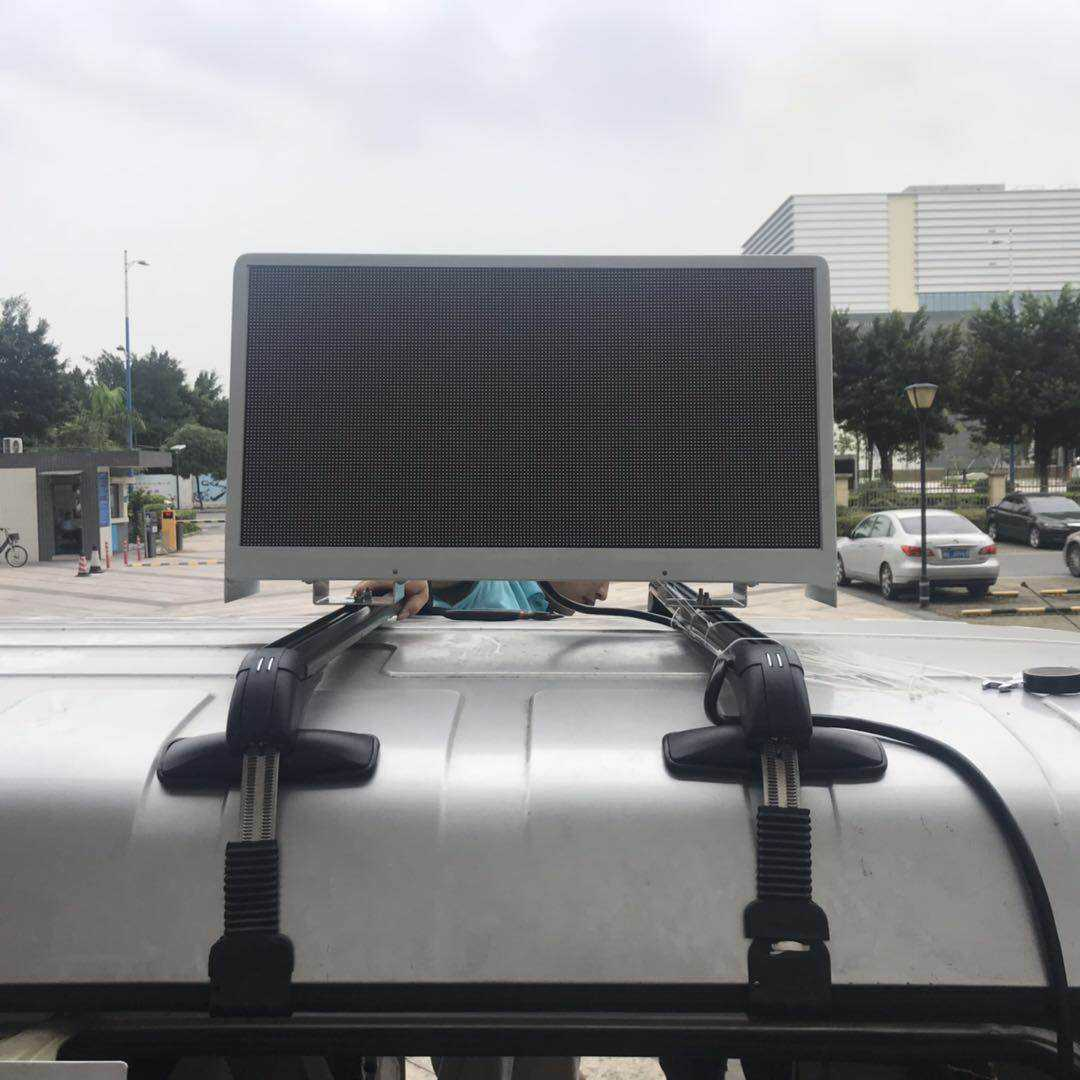 LEDbow P5 Taxi top Aluminium LED panel zeigen video mit smart control system
