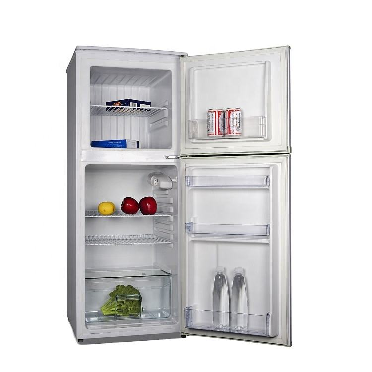 Manual Defrost 2 Door Mini Refrigerator And Freezer