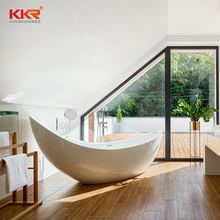 KKR Customize Free Standing Solid Surface Adult Bath Tub Freestanding