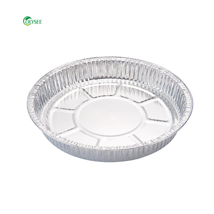 disposable circular aluminum foil container tray food packaging Round aluminum foil pan
