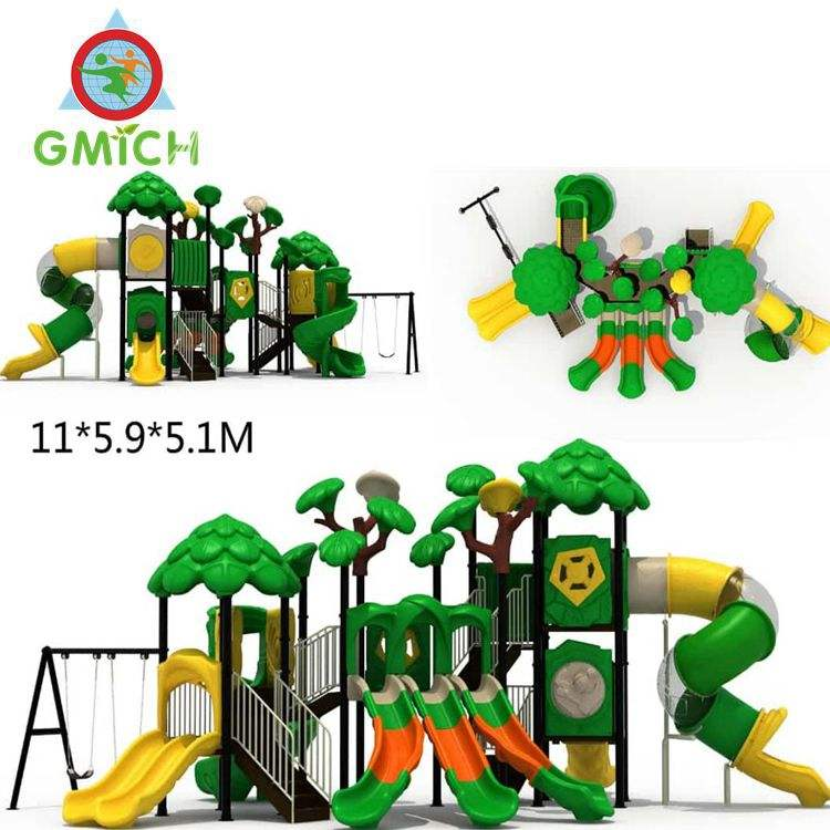 colorful adventure playground and amusement park equipment for kids