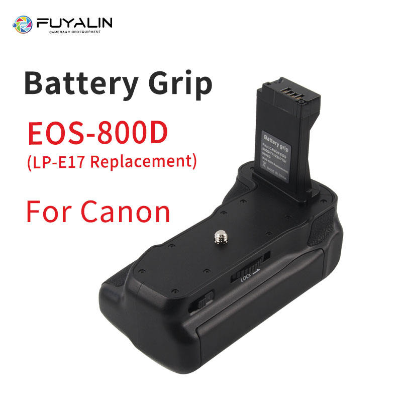 800D Camera Battery Grip for Canon EOS 800D/Rebel T7i/77D/Kiss X9i DSLR Camera