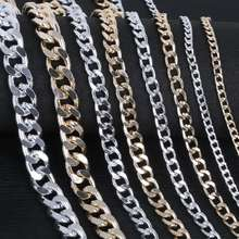 Wholesale Aluminum Metal Twisted Chains Bulk Fit Bracelets Findings Curb Open Link Chain For DIY Jewelry Making
