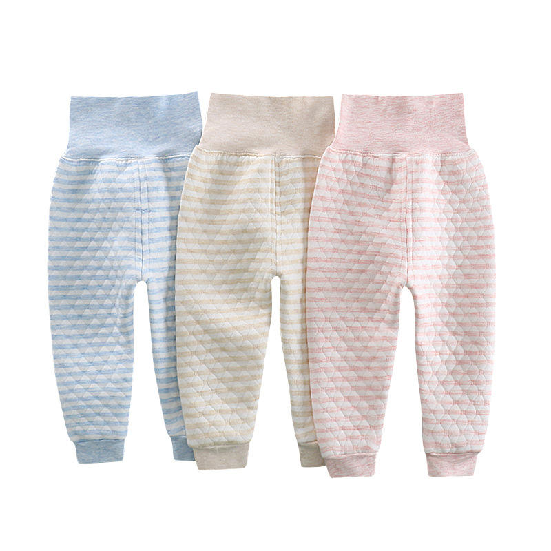 Children's thermal underwear kids cotton high-waist belly long johns thermal trousers infant clothing boys and girls pants