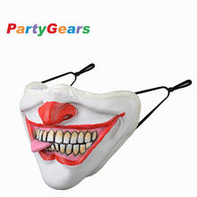 fashion reusable dustproof washable custom 3D party mask cotton designer mouth face supplies Halloween latex party masks