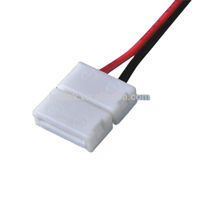 5050 2 Pin Wire Cable 10mm 2 Pin Connector Extend Line for 5050 LED Strips