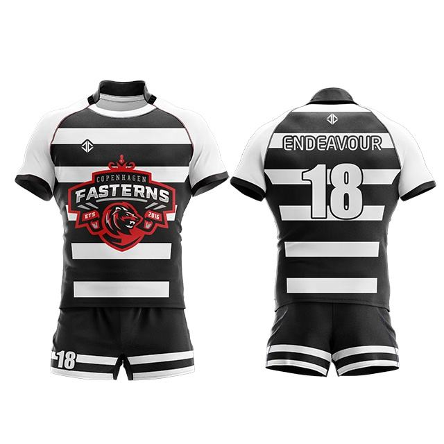 Custom your own design mens rugby shorts and jersey