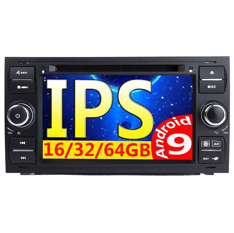 2 din Android 9 0 Car Radio For Ford Focus 2 3 mk2 Mondeo 4 Kuga Fiesta Transit Connect S C MAX Multimedia GPS Navi DVD head uni