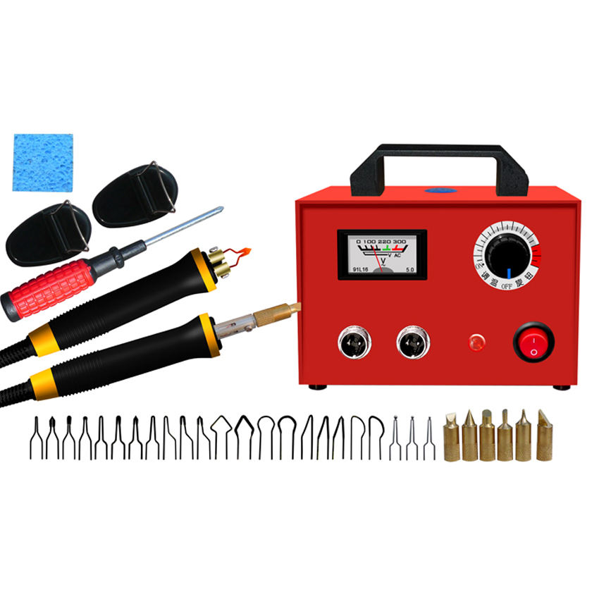 Digital Display Pyrography Machine with Temperature Control 220V InLoveArts 60W Wood Burning Kits with 2 Pyrography Pens and 23pcs Pyrography Tips