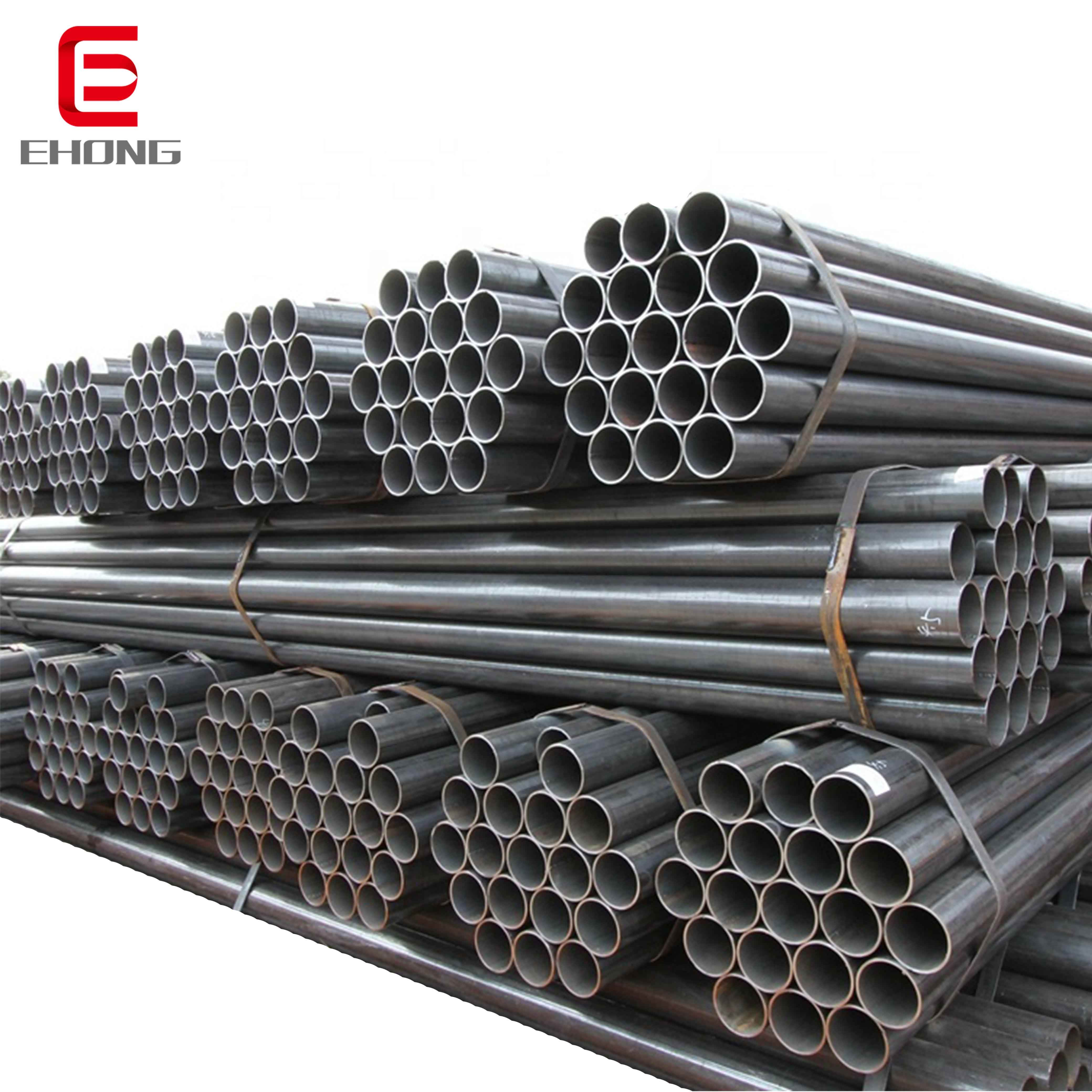 large small diameter round steel tube pipe manufacturer ! 6 inch 165mm dn150 iron erw weld steel pipe price per meter