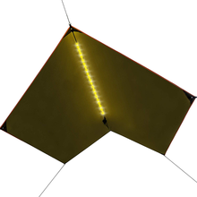Geertop Outdoor camping Waterproof sunshade rain fly shelter tent hammock tarp with led light