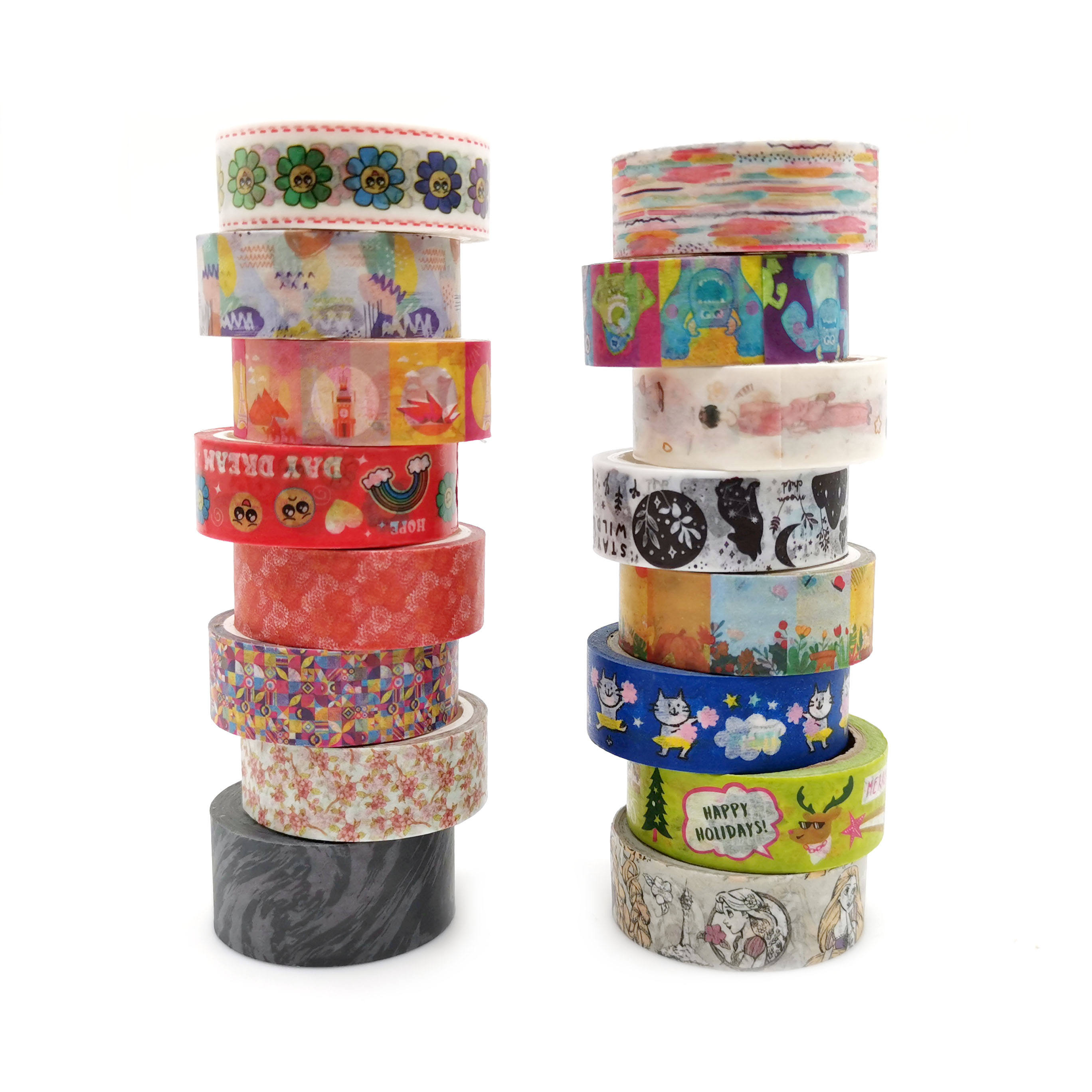 Custom Adhesive Decor Paper Masking Gold Foil Washi Tape Personalizado Printing