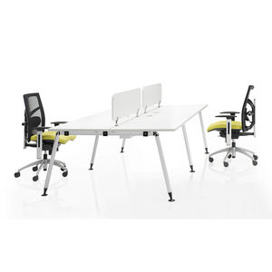 Cheap Workstation Desk Staff Double Table Office Workstation For 4 People