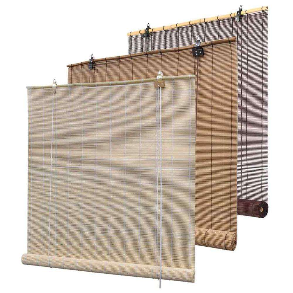 Outdoor Wicker Shades Bamboo Roller Blinds Roll Up Shades