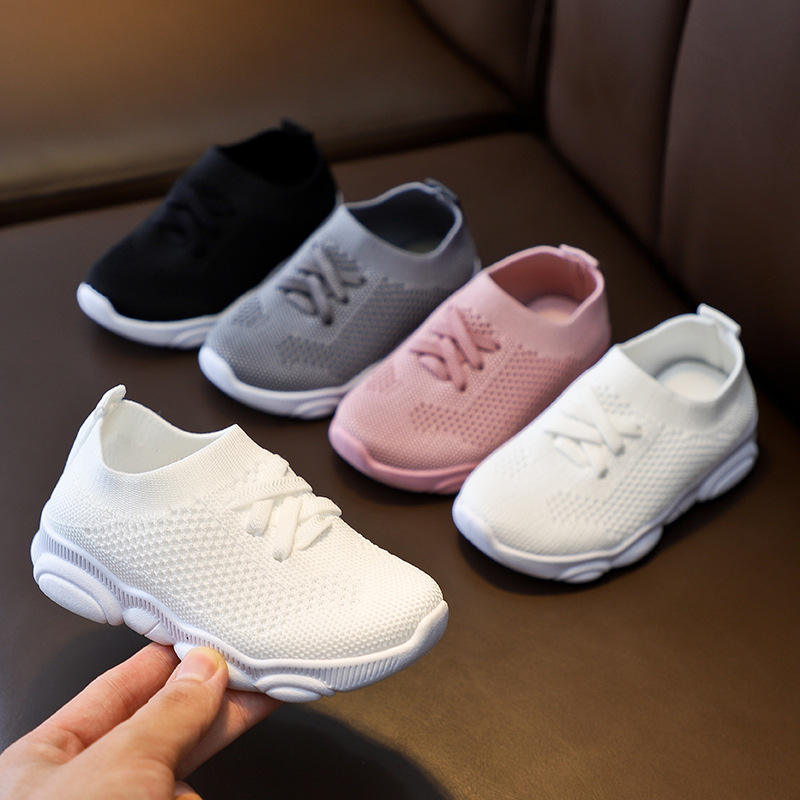 2021 Kids Shoes Anti Slip Soft Rubber Bottom Baby Sneakers Casual Flat Sneakers Shoes Kid Girls Boys Children's Sports Shoes