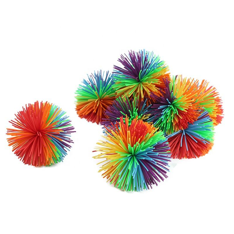 Anti-Stress promotionnelle Jouet Extensible Jouets Sensoriels Ensemble Koosh Ball Ballon Gonflable Coloré Arc-En-Ciel Pom Squishy Balles Grand Jouet Sensoriel