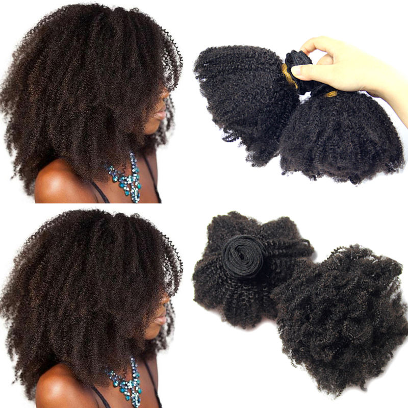 Factory wholesale price natural afro kinky human hair, 4a 4b 4c virgin mongolian kinky afro hair, 100 human afro curly hair