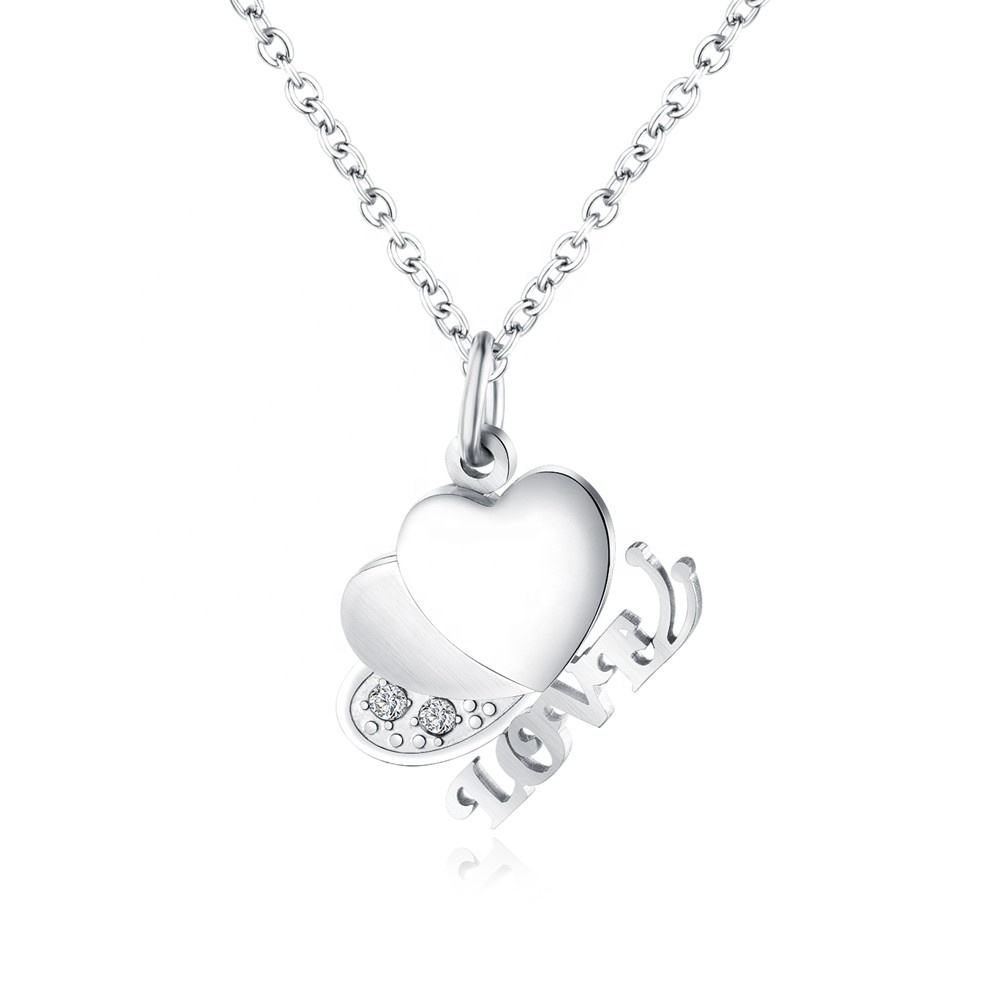 Fashionable Cubic Zirconia Love Popular Heart Charm Nepal Necklace Jewelry
