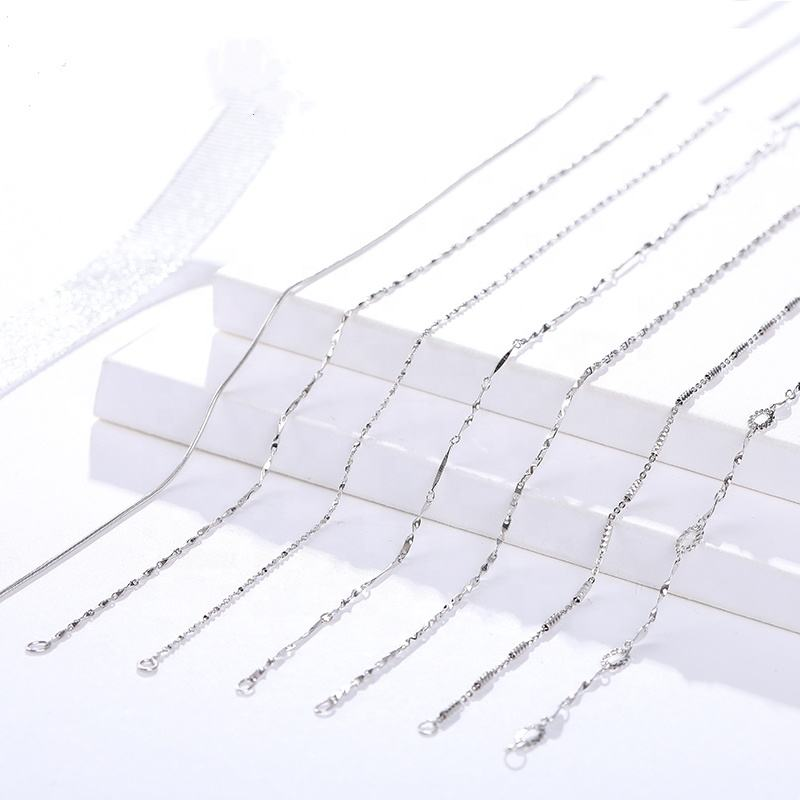 Hot Selling Cheap 925 sterling silver chain necklace