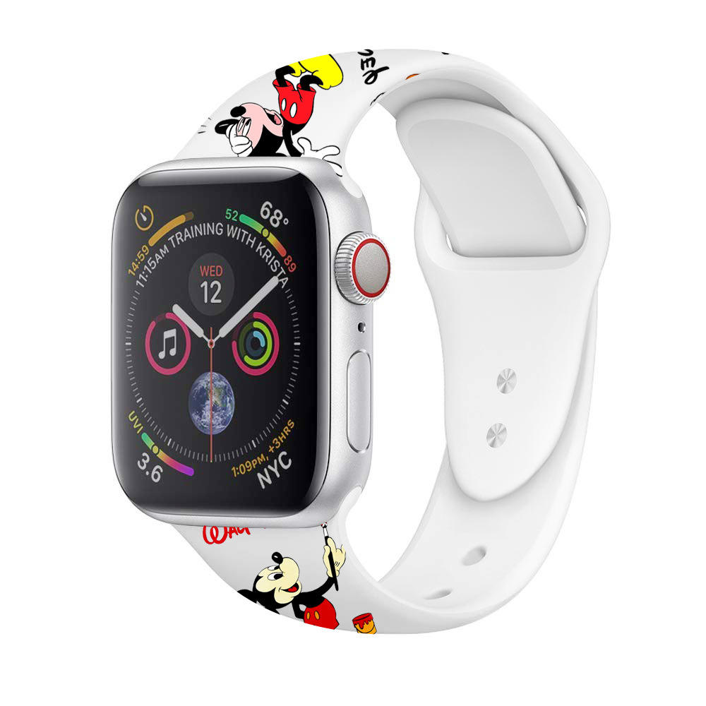 Mickey For Apple Watch Band 38mm/40mm/42mm/44mm Mouse Band Buckle Watch Strap