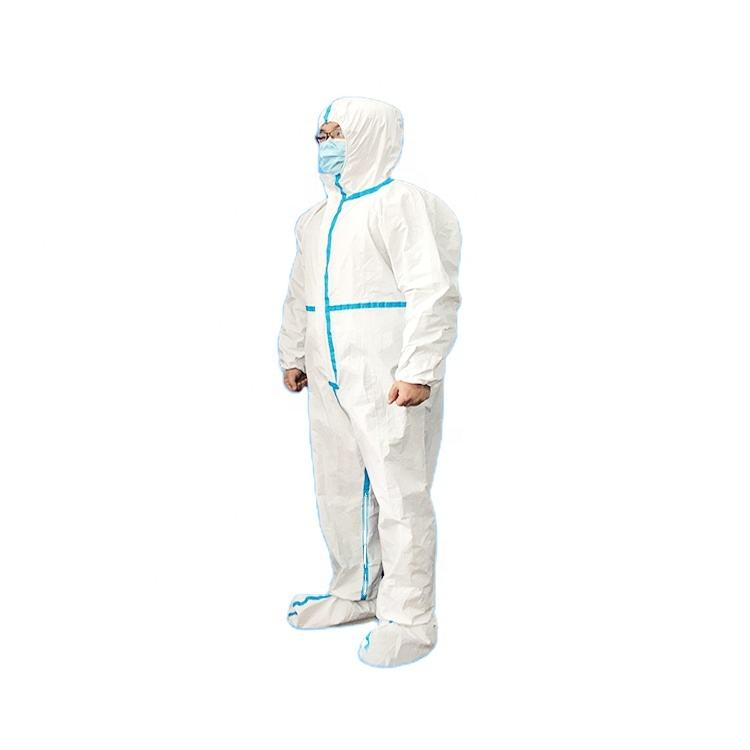 medical flame retardant disposable coverall microporous suit protective ppe