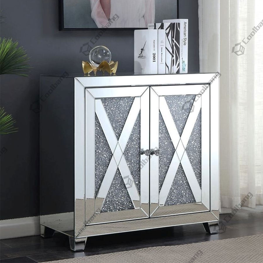 Coolbang white small antique mirrored chest furniture wholesale