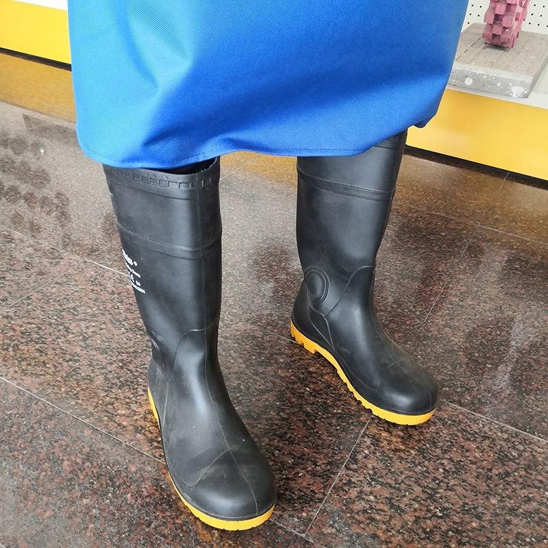 Safe And Reliable Protection Equipment Industrial Work Black Gum Boots