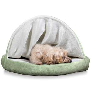 Machine Washable Orthopedic Round dog bed high quality Pet Bed Cuddle pet Nest Cozy dog Cuddler with canopy