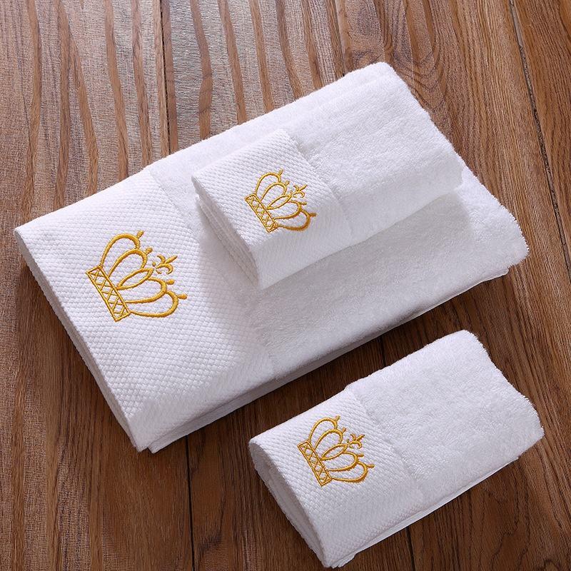 Khách Sạn sang trọng Spa Cotton Hữu Cơ Đối Mặt với Vòi Hoa Sen Tắm Trắng Khăn