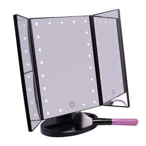 Touch Screen Switch Table Led Lighted Makeup Mirror With Vanity