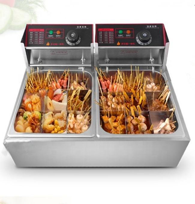 Industrial Commercial Electric Deep Fryer Double Tank 6L+6L Fryer