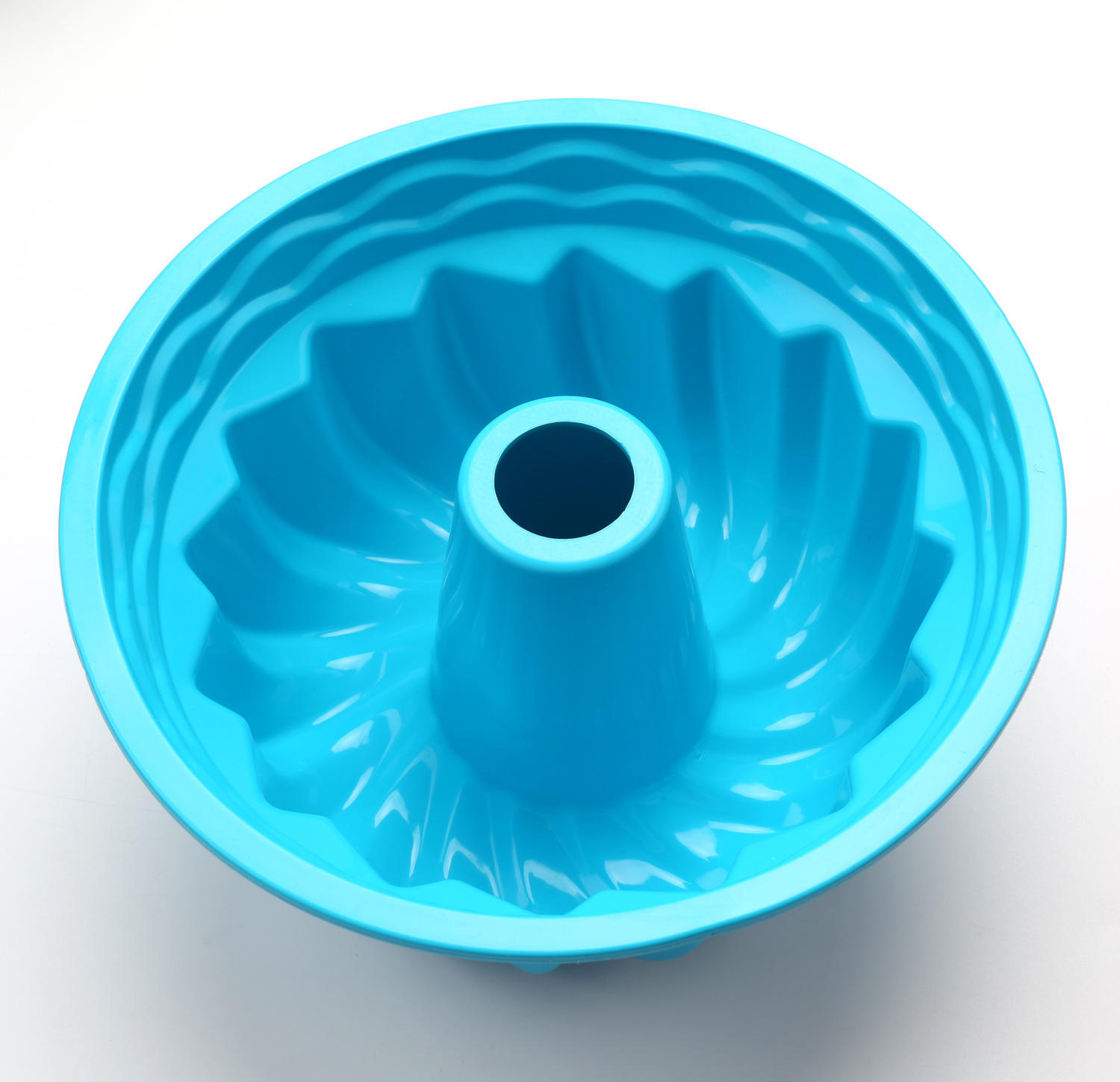 silicone cake baking pan non-stick bundt fluted chiffon silicone cake mould
