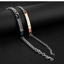 2019 Wholesale Fashion Stainless Steel Bracelet Couple Bracelet For Women Men