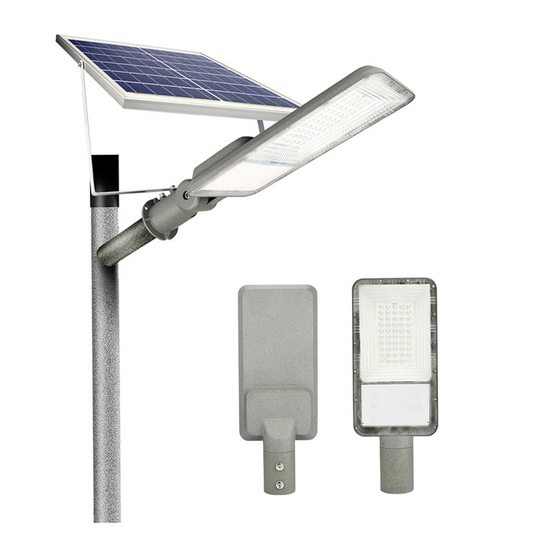 Low Price China Stand Sensor High Lumen 100W IP65 LED Outdoor Lighting All in One Solar Panel Street Light Alone Road Lamp
