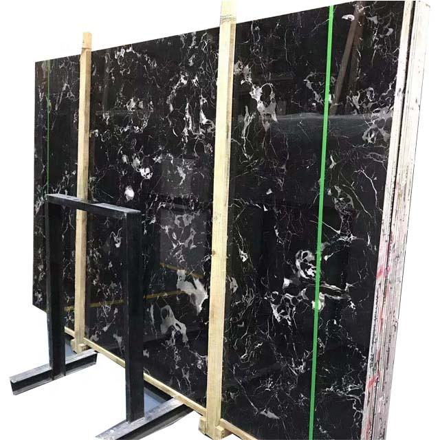 China Black & White Spots Century Ice Black Marble for Sale