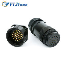 Black 19 Pins Power Socapex Male Female Inline Connector