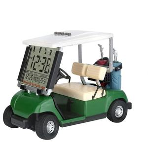 Newest Version LCD Display Mini Golf Cart Clock for Golf Fans Great Gift for Golfers Race Souvenir Novelty Golf Gifts