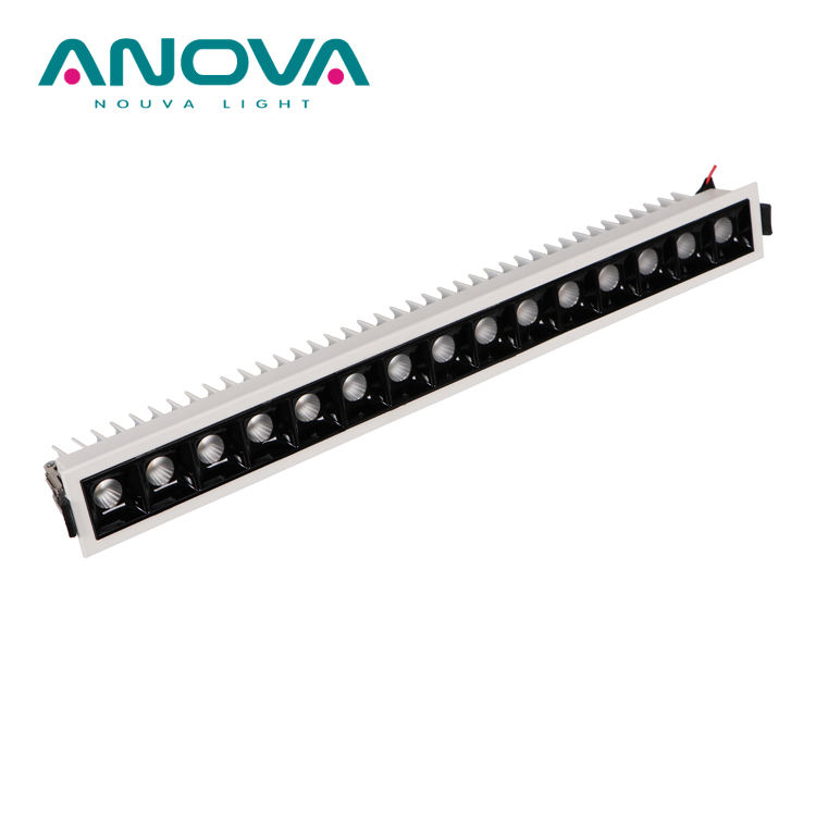 קבוע כיוונית מקורה led <span class=keywords><strong>downlight</strong></span> IP20 אנטי בוהק שקוע LED גריל אור