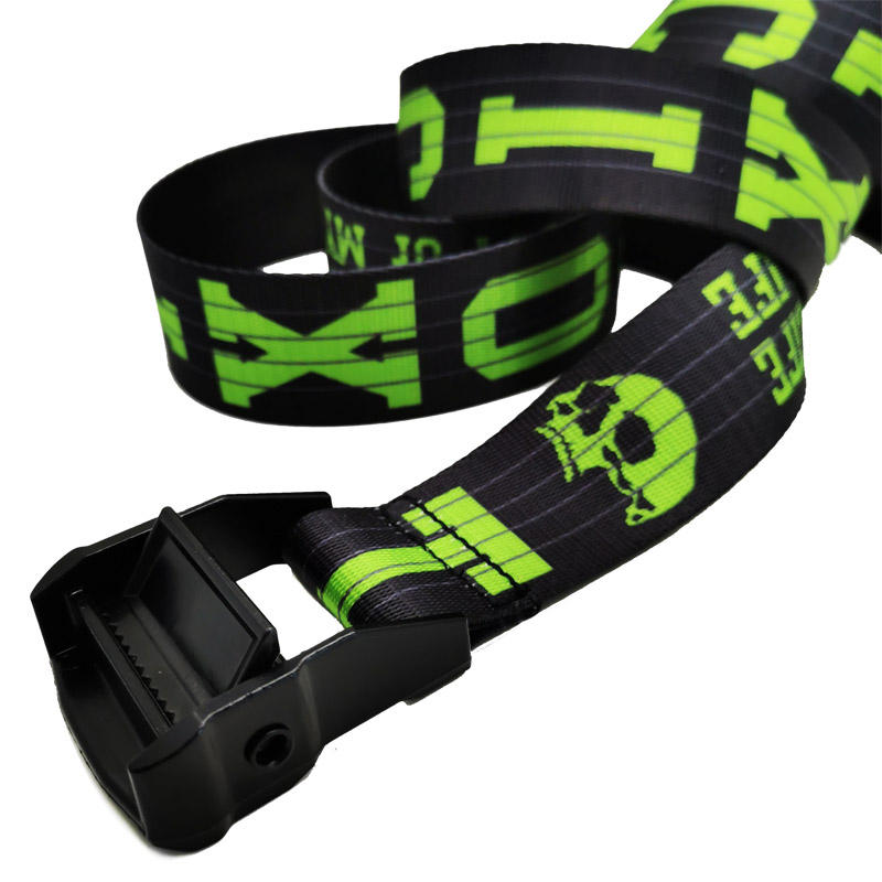 ZONESIN 2020 Trendy OEM Brand Sublimation Printed Nylon Fabric Belt With Custom Logo