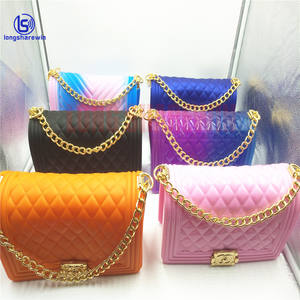 hot sale 2020 New Fashion Trendy Branded ladies Shoulder Jelly Bags Women Handbag purse
