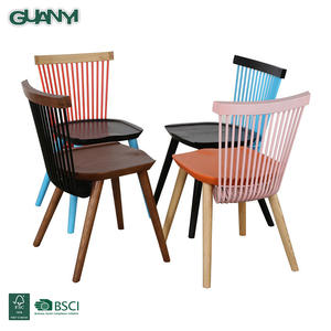Modern design nordic style wooden dining chair for restaurant or coffee shop